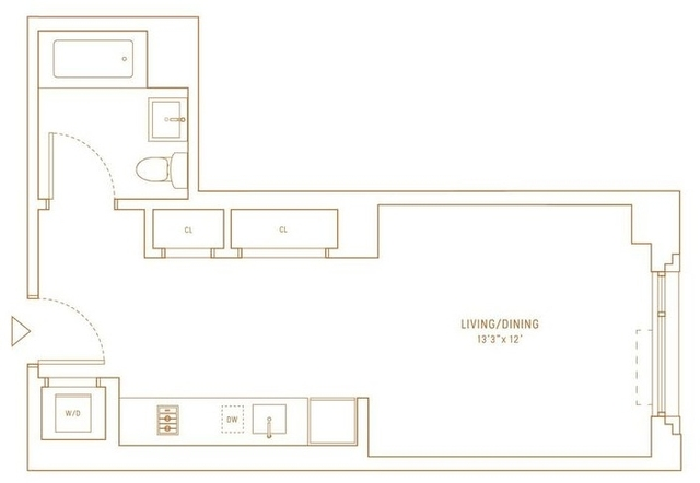 Studio, Hell's Kitchen Rental in NYC for $3,129 - Photo 2