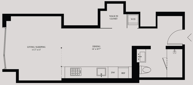 Studio, Hell's Kitchen Rental in NYC for $3,462 - Photo 2
