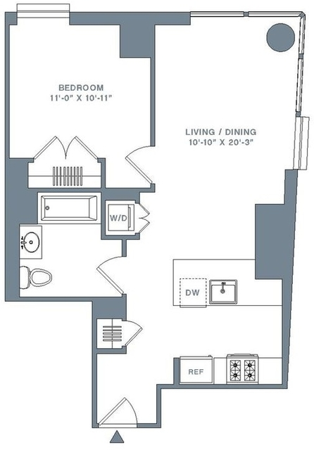 1 Bedroom, Financial District Rental in NYC for $4,371 - Photo 2