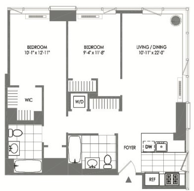 2 Bedrooms, Long Island City Rental in NYC for $4,202 - Photo 2