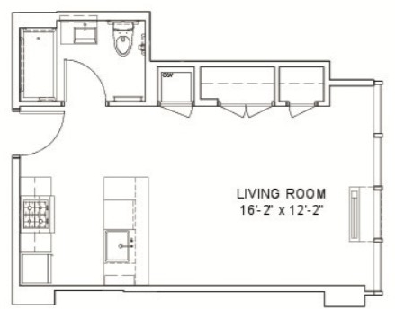 Studio, Hell's Kitchen Rental in NYC for $2,474 - Photo 2