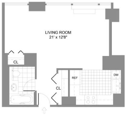 Studio, Chelsea Rental in NYC for $3,895 - Photo 2
