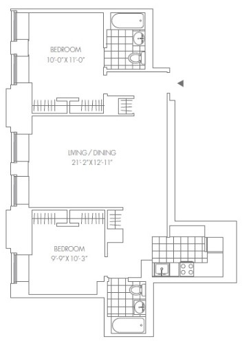 2 Bedrooms, Financial District Rental in NYC for $5,993 - Photo 2