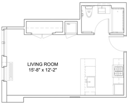 Studio, Hell's Kitchen Rental in NYC for $2,979 - Photo 2