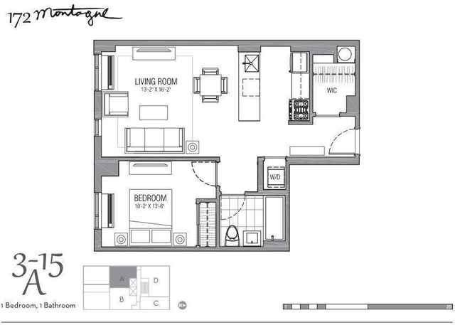 1 Bedroom, Brooklyn Heights Rental in NYC for $3,125 - Photo 2