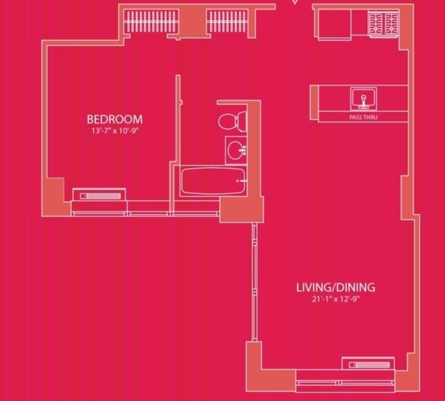 2 Bedrooms, Hell's Kitchen Rental in NYC for $3,388 - Photo 2