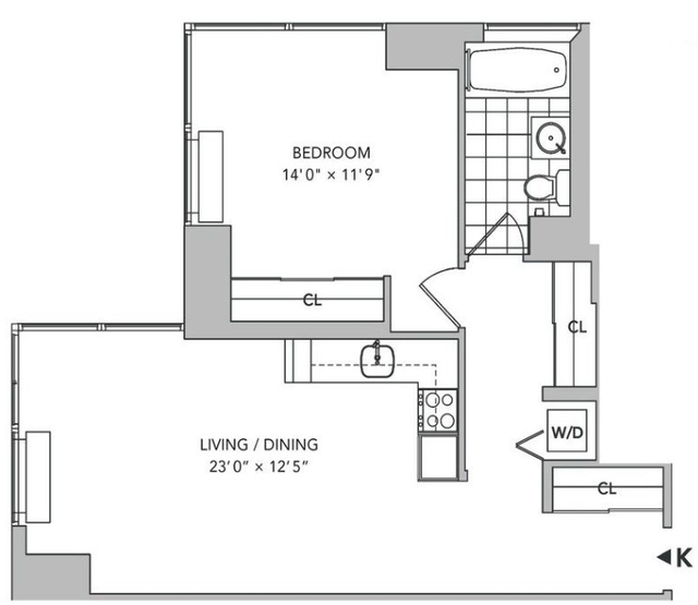 1 Bedroom, Hell's Kitchen Rental in NYC for $4,130 - Photo 2