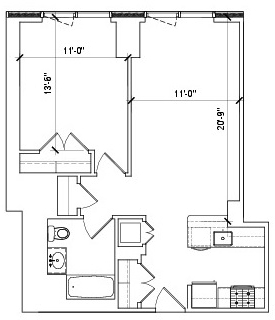 1 Bedroom, Lincoln Square Rental in NYC for $4,013 - Photo 2