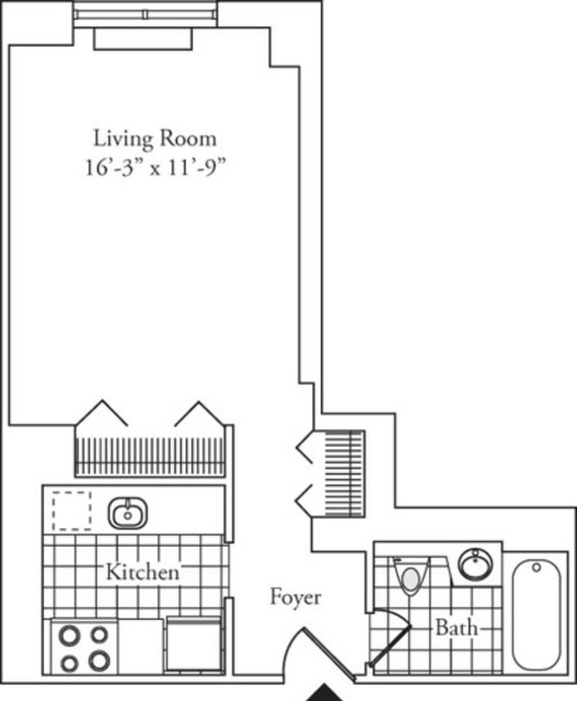 Studio, Lincoln Square Rental in NYC for $2,629 - Photo 2