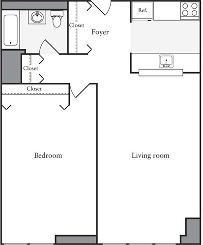 2 Bedrooms, Hell's Kitchen Rental in NYC for $4,902 - Photo 2