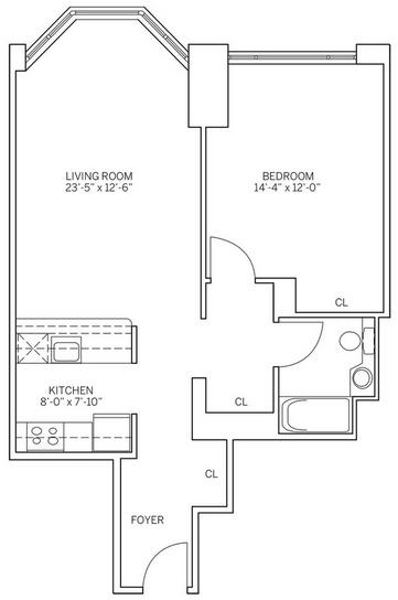 1 Bedroom, Newport Rental in NYC for $2,910 - Photo 2