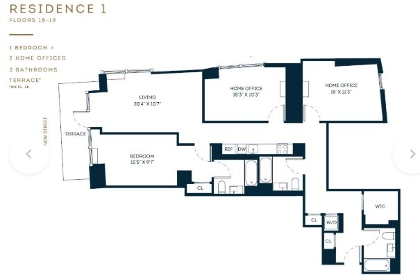 2 Bedrooms, Financial District Rental in NYC for $6,771 - Photo 1