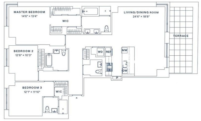 3 Bedrooms, Upper West Side Rental in NYC for $23,925 - Photo 2