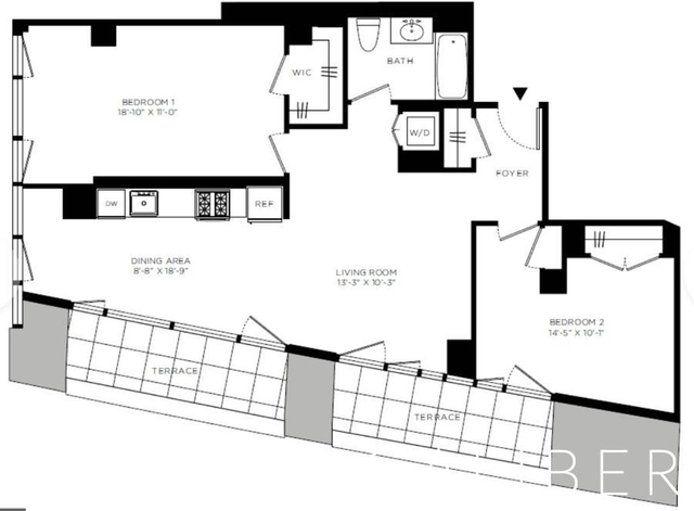 2 Bedrooms, Hell's Kitchen Rental in NYC for $6,920 - Photo 1