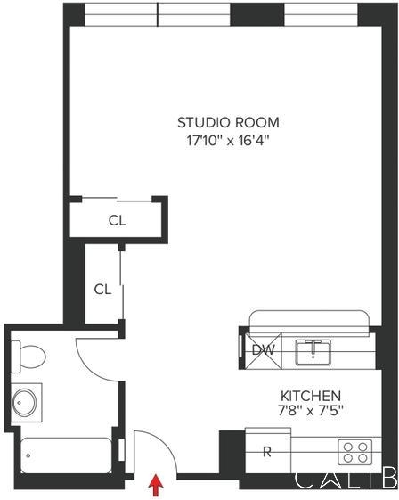 Studio, Hell's Kitchen Rental in NYC for $2,667 - Photo 2
