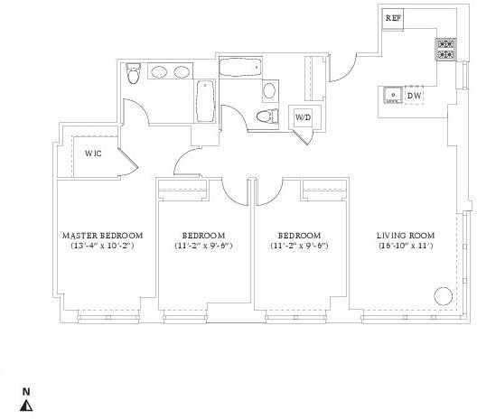 3 Bedrooms, Hell's Kitchen Rental in NYC for $6,650 - Photo 2