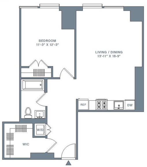 1 Bedroom, Financial District Rental in NYC for $4,640 - Photo 2