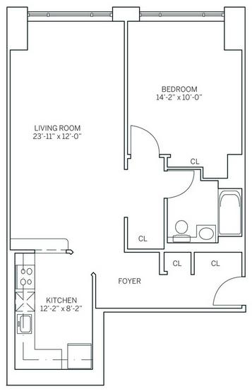 1 Bedroom, Newport Rental in NYC for $2,670 - Photo 2
