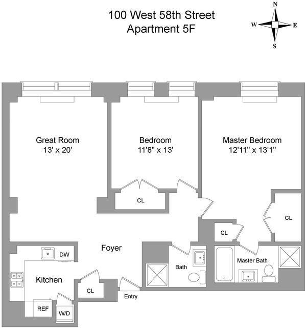 2 Bedrooms, Theater District Rental in NYC for $5,495 - Photo 2