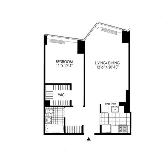 1 Bedroom, Hunters Point Rental in NYC for $3,323 - Photo 1