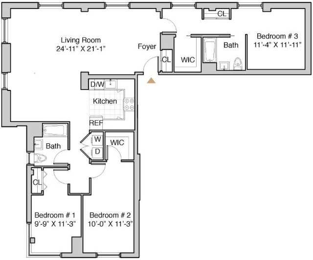 3 Bedrooms, Hunters Point Rental in NYC for $5,960 - Photo 2