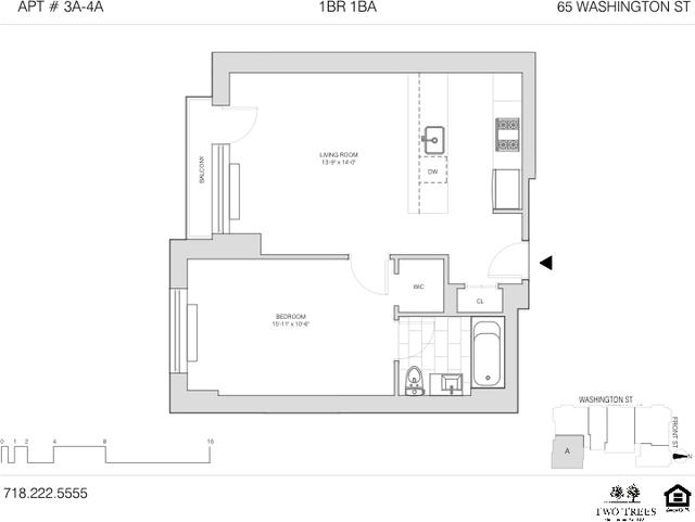 1 Bedroom, DUMBO Rental in NYC for $3,750 - Photo 2
