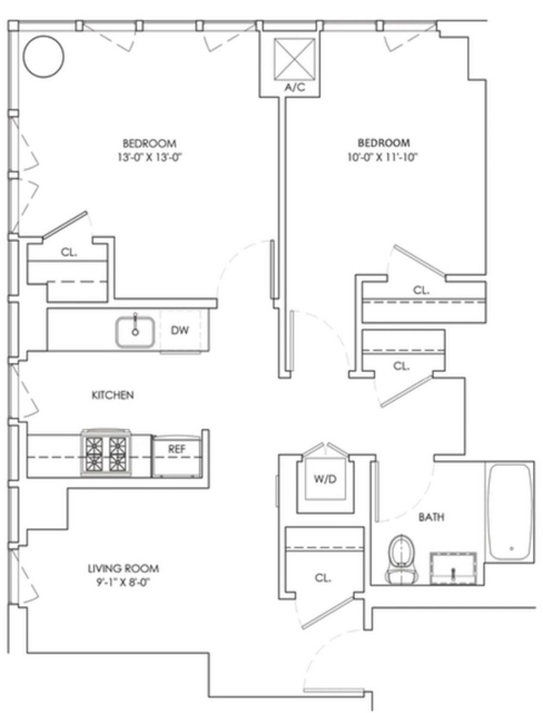 2 Bedrooms, Long Island City Rental in NYC for $3,875 - Photo 2