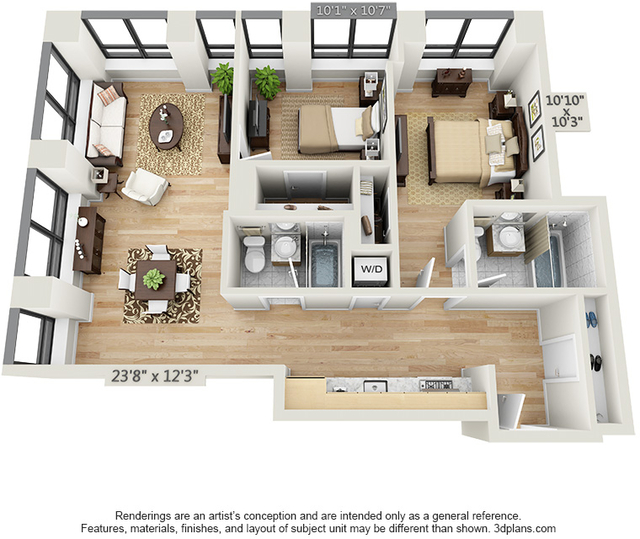2 Bedrooms, Financial District Rental in NYC for $5,984 - Photo 2