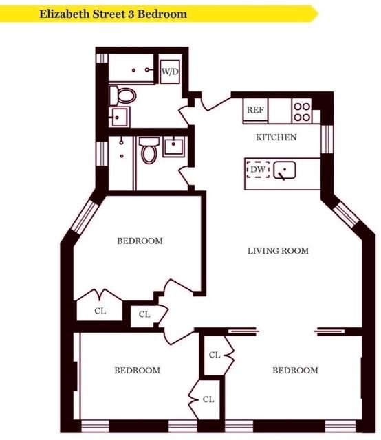 3 Bedrooms, NoLita Rental in NYC for $6,825 - Photo 2