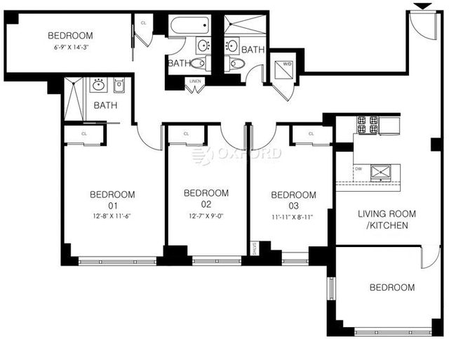 4 Bedrooms, Manhattan Valley Rental in NYC for $6,200 - Photo 2