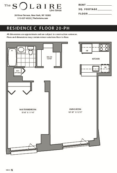 1 Bedroom, Battery Park City Rental in NYC for $5,195 - Photo 2