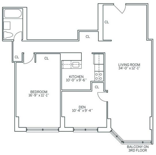 2 Bedrooms, Newport Rental in NYC for $3,015 - Photo 2