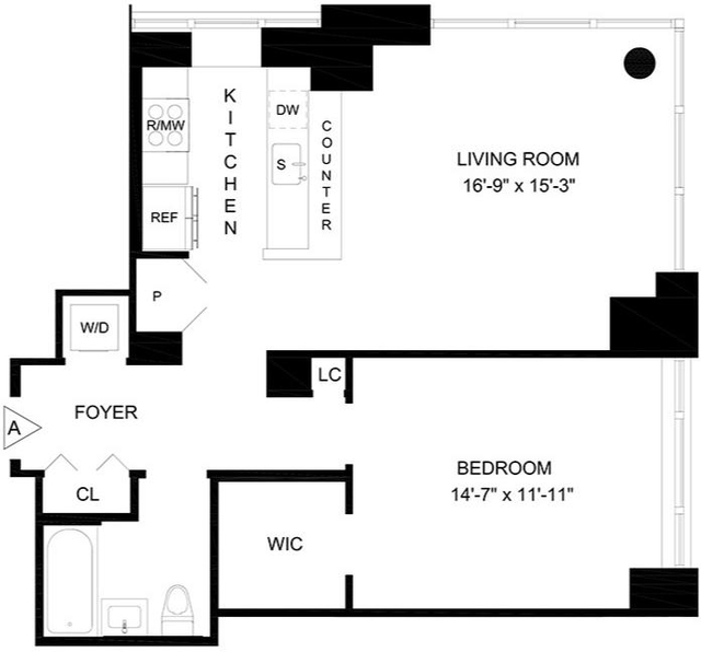 1 Bedroom, Lincoln Square Rental in NYC for $6,295 - Photo 2