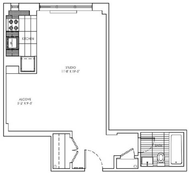 Studio, Sutton Place Rental in NYC for $2,999 - Photo 2
