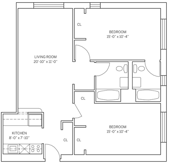 1 Bedroom, Historic Downtown Rental in NYC for $2,355 - Photo 2