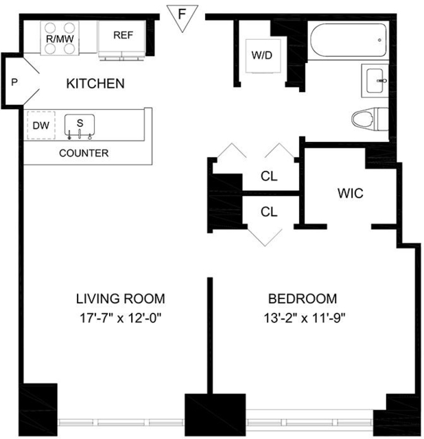 1 Bedroom, Lincoln Square Rental in NYC for $5,219 - Photo 2