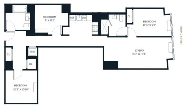 3 Bedrooms, Financial District Rental in NYC for $6,210 - Photo 2