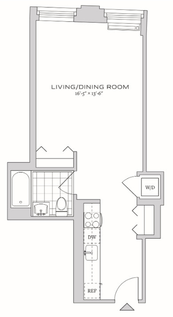 Studio, Financial District Rental in NYC for $2,937 - Photo 2