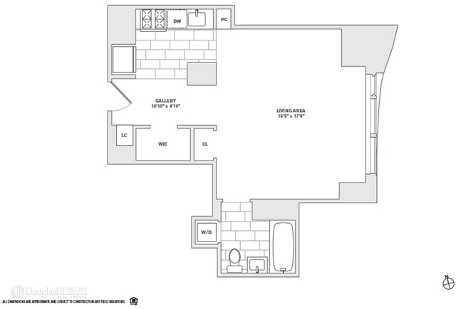 Studio, Financial District Rental in NYC for $3,910 - Photo 1