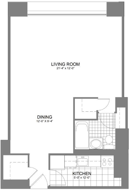 Studio, Kips Bay Rental in NYC for $3,050 - Photo 2