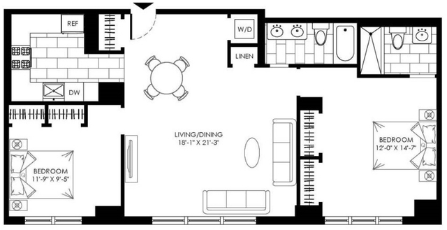 2 Bedrooms, Turtle Bay Rental in NYC for $6,395 - Photo 2