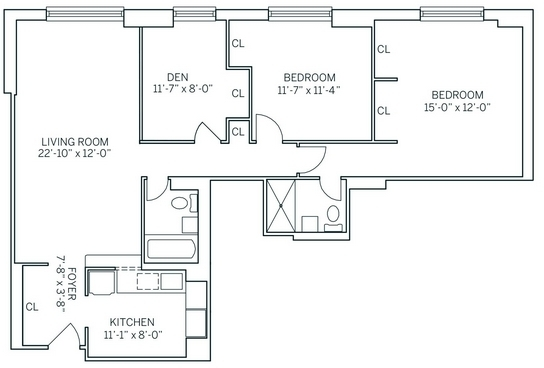 3 Bedrooms, Newport Rental in NYC for $3,880 - Photo 2