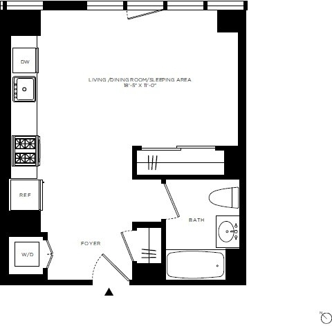 Studio, Hell's Kitchen Rental in NYC for $2,945 - Photo 2