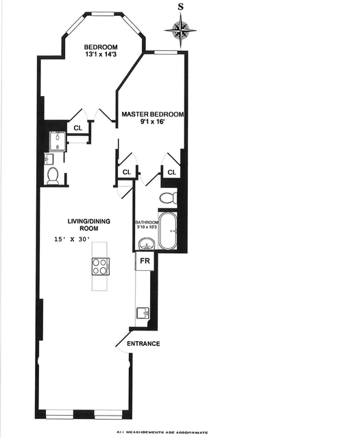 2 Bedrooms, Hell's Kitchen Rental in NYC for $4,154 - Photo 2