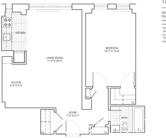 1 Bedroom, Sutton Place Rental in NYC for $3,709 - Photo 2