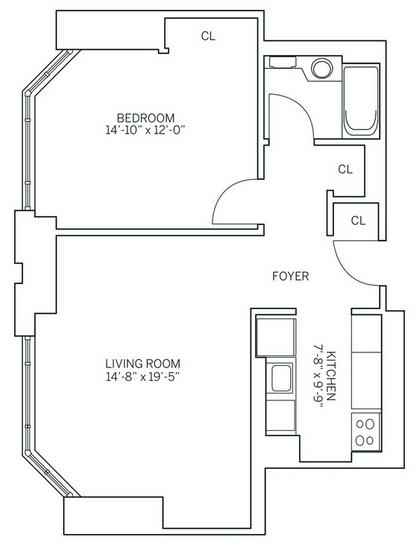1 Bedroom, Newport Rental in NYC for $2,630 - Photo 2