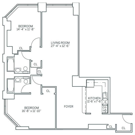 2 Bedrooms, Newport Rental in NYC for $3,735 - Photo 2