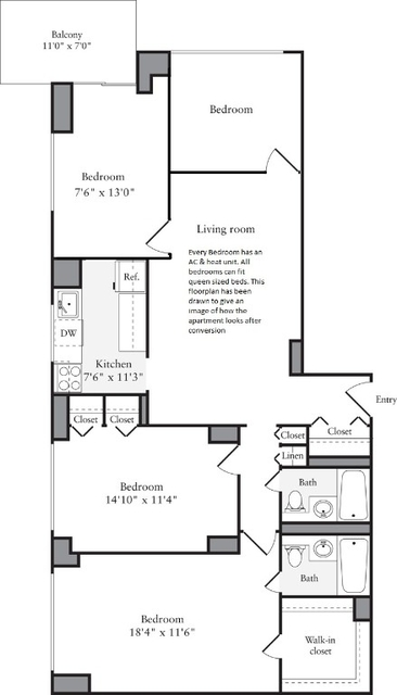4 Bedrooms, Murray Hill Rental in NYC for $7,230 - Photo 2