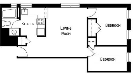 2 Bedrooms, Gramercy Park Rental in NYC for $3,450 - Photo 2