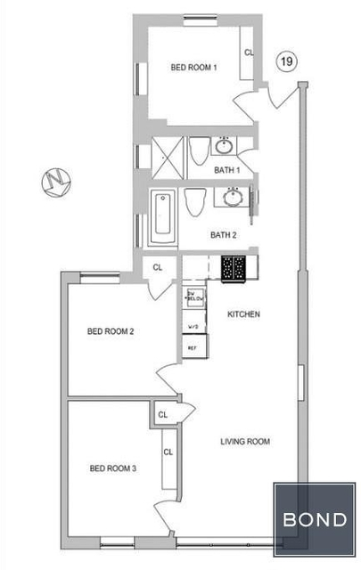 3 Bedrooms, Gramercy Park Rental in NYC for $5,353 - Photo 2